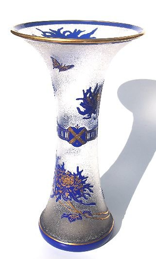 Amalric Walter, Marcel Goupy & Other French Glass. stlouisblue2